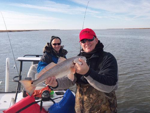 Seahawk inshore fishing report 1 3 10 2011 redfishing for Carolina beach fishing charters