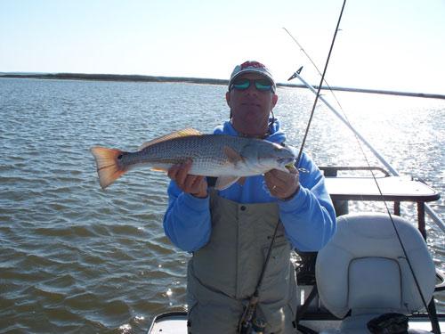 Seahawk inshore fishing report 2 21 09 good redfishing for Carolina beach fishing charters