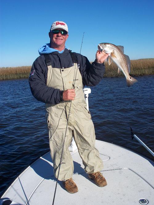 Seahawk inshore fishing report 2 5 09 winter redfishing for Carolina beach fishing charters
