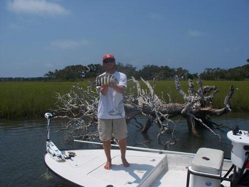 Seahawk inshore fishing report 8 3 10 inshore slams for Carolina beach fishing charters